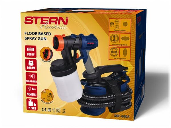 Pistol de vopsit electric Stern SGF800A, 1200ml/min, 900ml, 800W, 150DIN-s, lavabila, vopsea, lac, lazuri 1