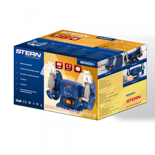 Polizor de banc Stern BG150SF+, 150 W, 150 mm, 2950 RPM 1