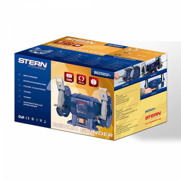 Polizor de banc Stern BG250SF+, 250 W, 150 mm, 2950 RPM 1