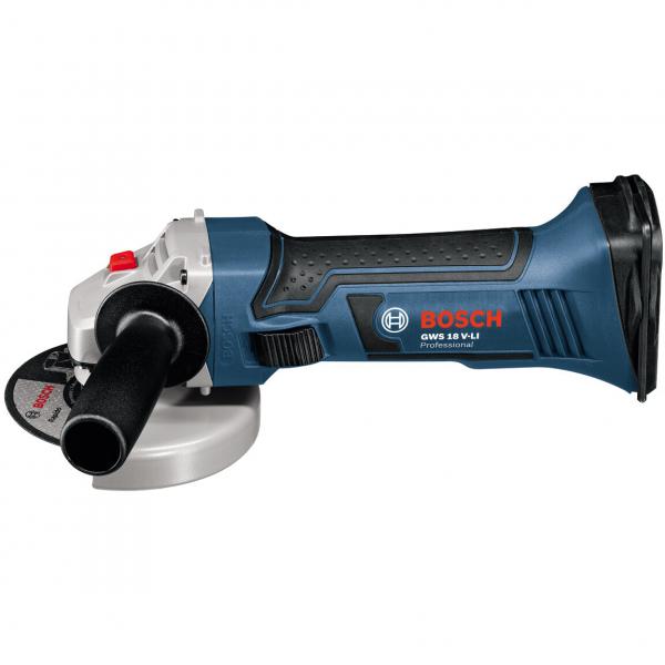 Polizor unghiular (flex) cu acumulator Bosch GWS 18 V-LI, 18V, 11.000 rpm, 115 mm [0]