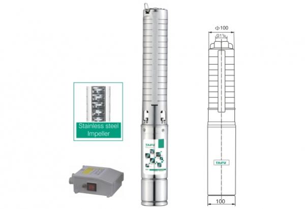 """Pompa submersibila Taifu 4SM2-21F, 1"""", 1500W, 50L/min, apa curata [1]"""
