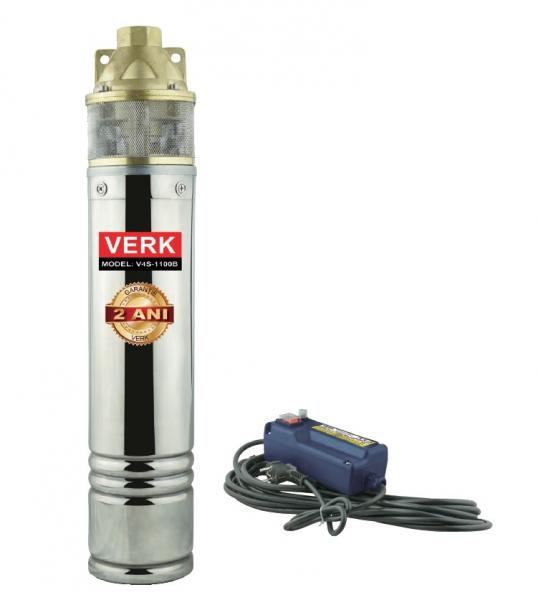 Pompa submersibila Verk V4S-1100B, 1100W, 60L/min, apa curata 0