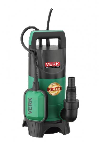 Pompa submersibila Verk VDP-750A, 750W, 216L/min, apa murdara, plutitor/flotor 0