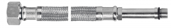 Racord flexibil pentru baterii FERRO WBS28, 1/2xM10x1, cu capat lung L=80cm 0
