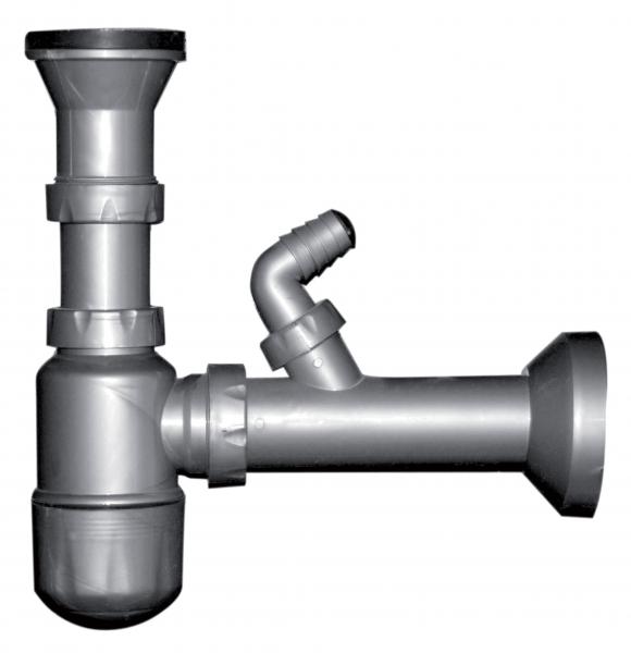 Sifon cu ventil fara preaplin FERRO NSP45, DN 40, 49 mm, pentru spalator 0