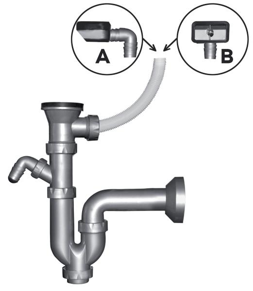 Sifon pentru chiuveta FERRO NSP49, DN 40 cu ventil si preaplin 49 mm 0