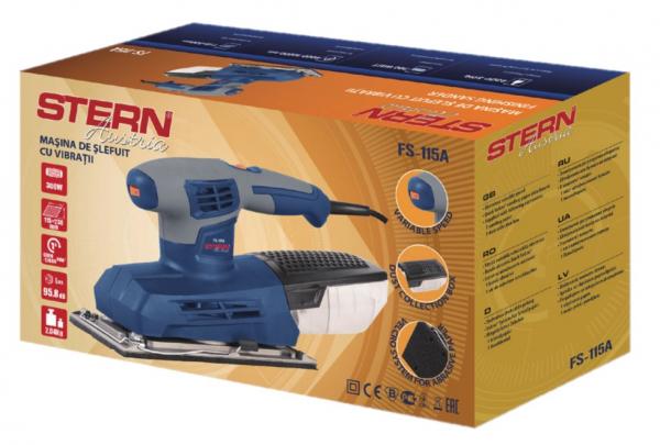 Slefuitor cu vibratii Stern FS115A, 300W, 115x230mm, turatie variabila 1