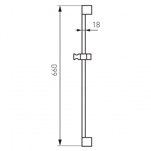 Suport bara culisant pentru dus FERRO RAIL1.0, crom 1