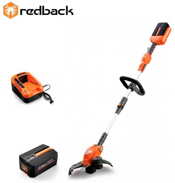 Pachet trimmer iarba cu acumulator (motocoasa) Redback E312D, 40V, 2Ah cu acumulator si incarcator 0