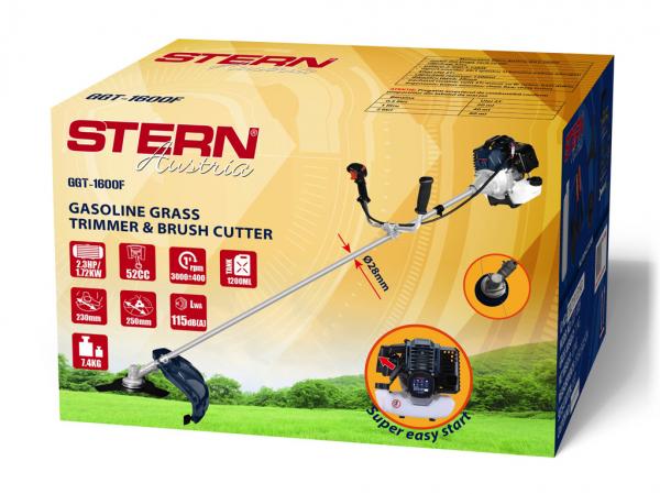 Trimmer iarba pe benzina (motocoasa) Stern GGT1600F, 2.3CP, 52cm3 2