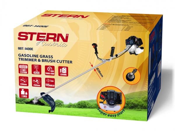 Trimmer iarba pe benzina (motocoasa) Stern GGT1400E, 2.1CP, 43cm3 3