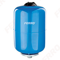 Vas expansiune suspendat vertical FERRO CWU18W, 18 litri, 10 bari pentru instalatii de climatizare si apa rece 0