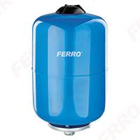 Vas expansiune suspendat vertical FERRO CWU24W, 24 litri, 10 bari pentru instalatii de climatizare si apa rece 0