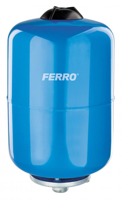 Vas expansiune suspendat vertical FERRO CWU24W-B, 24 litri, 16 bari pentru instalatii de climatizare si apa rece 0