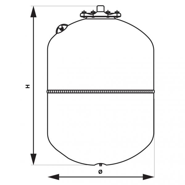 Vas expansiune suspendat vertical FERRO SO18W, 18 litri, 10 bari pentru instalatii solare 1