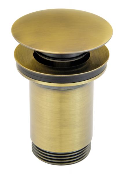 """Ventil lavoar FERRO Rotondo S285BR, click-clack din alama  1 1/4"""", cu preaplin, bronz 0"""