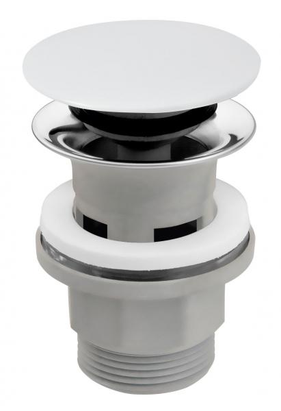 """Ventil lavoar FERRO S288PPC, click-clack din ABS  1 1/4"""" cu preaplin, ceramic alb 0"""