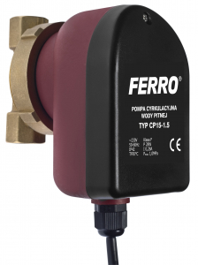 Pompa recirculare FERRO 0101W, C.W.U. tip CP 15-1.5, 10 BAR, 28W, 85 mm0