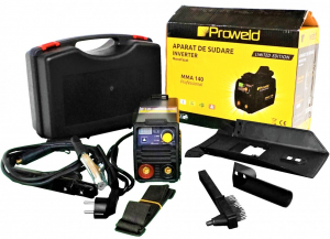 Aparat de sudura invertor ProWELD MMA-140, VRD, 10-140A, 5.7KvA, TIG, electrozi 2.5mm/3.2mm, bazici/rutilici/supertit [1]