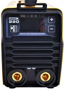 Aparat de sudura invertor ProWELD MMA220LCD, 10-220A, 6.5KvA, MMA/LiftTIG, electrozi 2.5mm-5mm, bazici/rutilici/supertit2