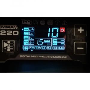 Aparat de sudura invertor ProWELD MMA220LCD, 10-220A, 6.5KvA, MMA/LiftTIG, electrozi 2.5mm-5mm, bazici/rutilici/supertit1
