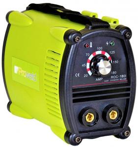 Aparat de sudura invertor ProWELD ROC-180I, 20-180A, 6.5KvA, electrozi 2.5mm-4mm, bazici/rutilici/supertit0