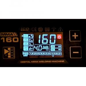 Aparat de sudura invertor ProWELD MMA160LCD, 10-160A, 5.5KvA, MMA/LiftTIG, electrozi 2.5mm-4mm, bazici/rutilici/supertit3