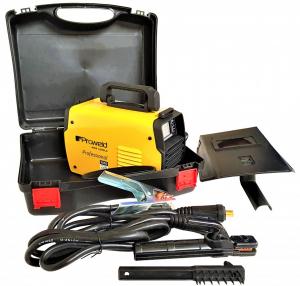 Aparat de sudura invertor ProWELD MMA160LCD, 10-160A, 5.5KvA, MMA/LiftTIG, electrozi 2.5mm-4mm, bazici/rutilici/supertit5