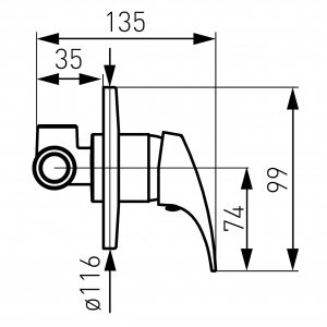 Baterie ingropata dus FERRO Combo BCM7PA, crom1