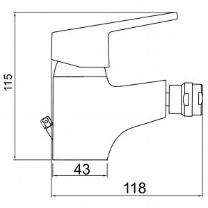 Baterie stativa bideu FERRO Iris New 94411.0, crom1