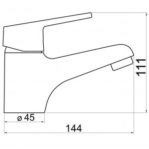 Baterie stativa lavoar FERRO Iris New 94401.0, crom cu ventil1