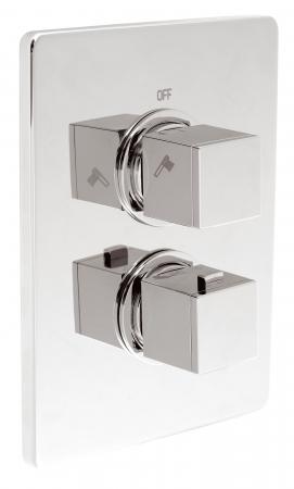 Baterie termostatata ingropata cada/dus FERRO Aquasave 2850R.0, crom0