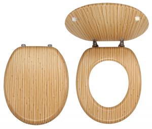 Capac WC universal din lemn de bambus FERRO0