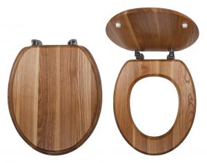 Capac WC universal din lemn de frasin FERRO, natur0