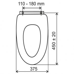 Capac WC universal din MDF FERRO, decor ursi1