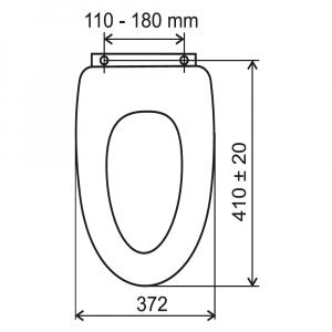 Capac WC universal din MDF FERRO Lyra, alb1