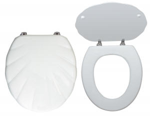 Capac WC universal din MDF FERRO Lyra, alb0
