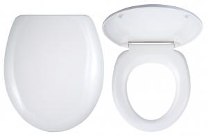 Capac WC universal din plastic FERRO, alb0