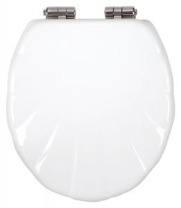 Capac WC universal soft-close din duroplast FERRO Lyra, alb0
