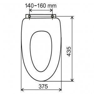 Capac WC universal soft-close din plastic FERRO, alb1