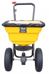 Carucior pentru imprastiat (dispersor) Texas CS3600, 36l, 2metri, pentru seminte/ingrasamant/nisip/sare de drum1