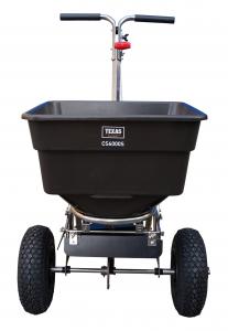 Carucior pentru imprastiat (dispersor) Texas CS6000S, 58l, 3metri, pentru nisip/sare de drum/seminte/ingrasamant1