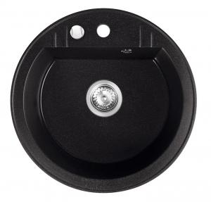 Chiuveta granit 1 cuva rotunda 510 mm FERRO MEZZO II DRGM1/51BA, grafit0