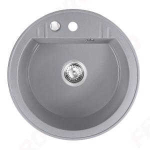 Chiuveta granit 1 cuva rotunda 510 mm FERRO MEZZO II DRGM1/51GA, gri0