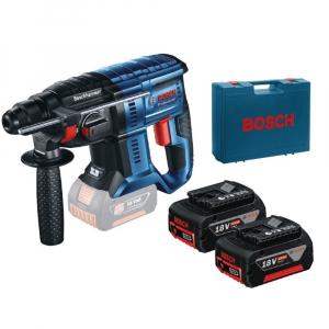 Ciocan rotopercutor cu acumulator Bosch GBH 180-LI, 18V, 4 Ah, 1.7J, 1800rpm, SDS-Plus, 2 acumulatori si incarcator0
