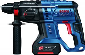 Ciocan rotopercutor cu acumulator Bosch GBH 180-LI, 18V, 4 Ah, 1.7J, 1800rpm, SDS-Plus, 2 acumulatori si incarcator2
