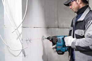 Ciocan rotopercutor Bosch GBH 3-28 DRE, 800W, 3.1J, 900rpm, SDS-Plus, 3 moduri3