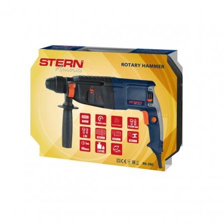 Ciocan rotopercutor Stern RH26C, 800W, 2.8J, 1350rpm, SDS-Plus, 3 moduri [2]