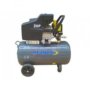 Compresor de aer Stager HM2050B, 50L, 8bar, 200L/min, 220V, angrenare directa [2]