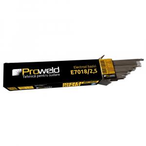 Electrozi bazici pentru sudura ProWELD E7018, 2.5mm/35cm, 90-120A, 5kg0
